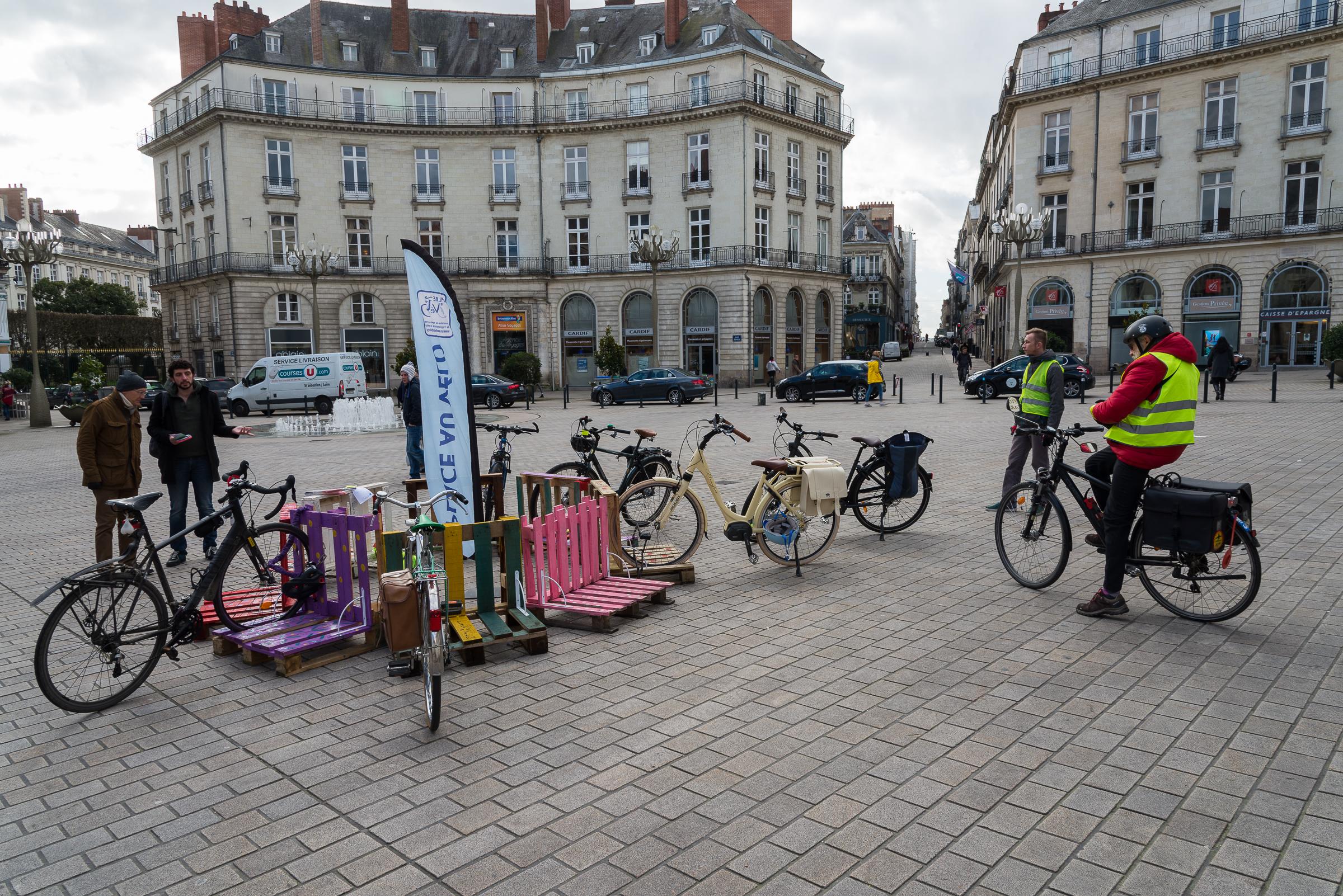 Opération Palettes Place Graslin à Nantes